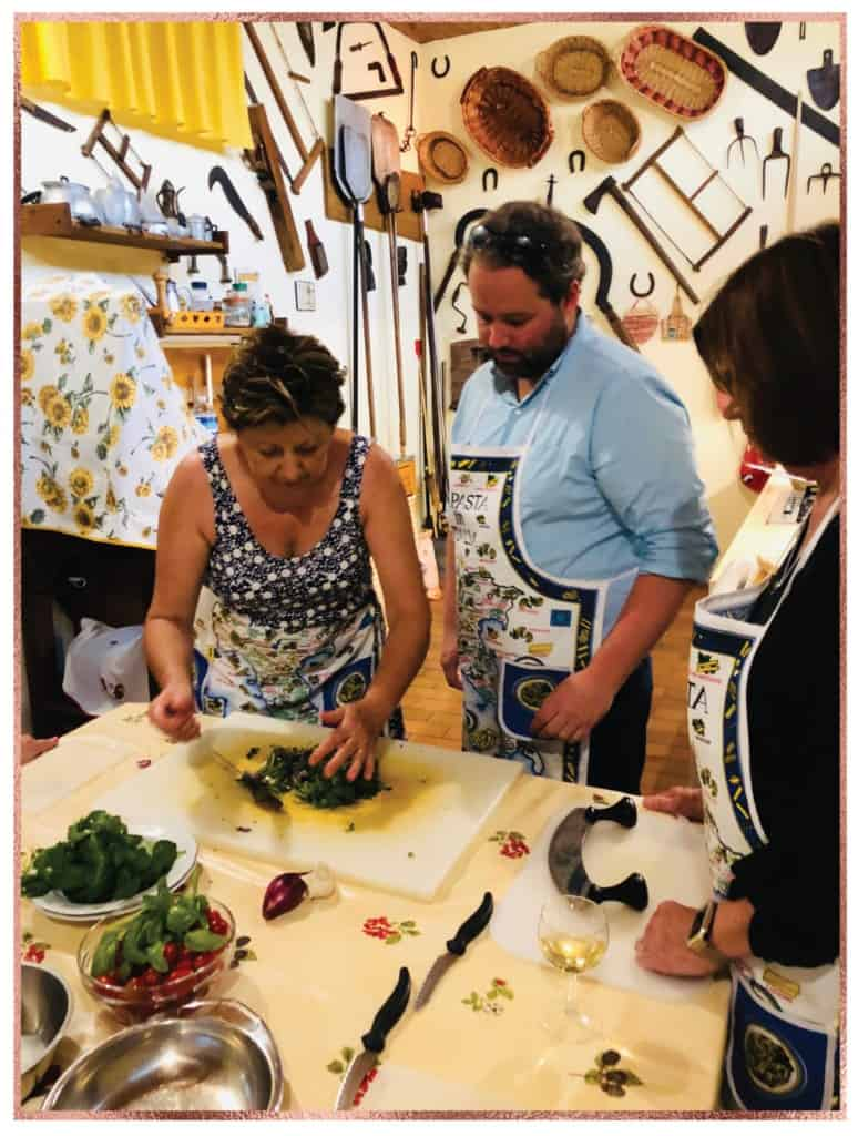 Italian cooking lesson in farm village outside Lucca