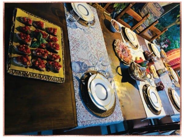 Bruschetta, prosciutto, speck, olives, jams, farro, and more. All fresh from a village near Lucca, Italy.
