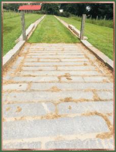 Stone path farm Serenbe