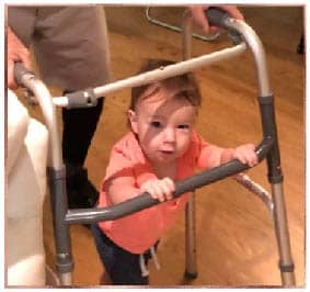 Baby pushing walker