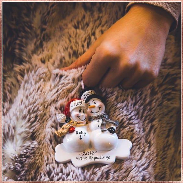 Pregnancy Christmas Ornament