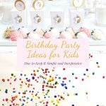 pin for simple birthday party ideas for kids