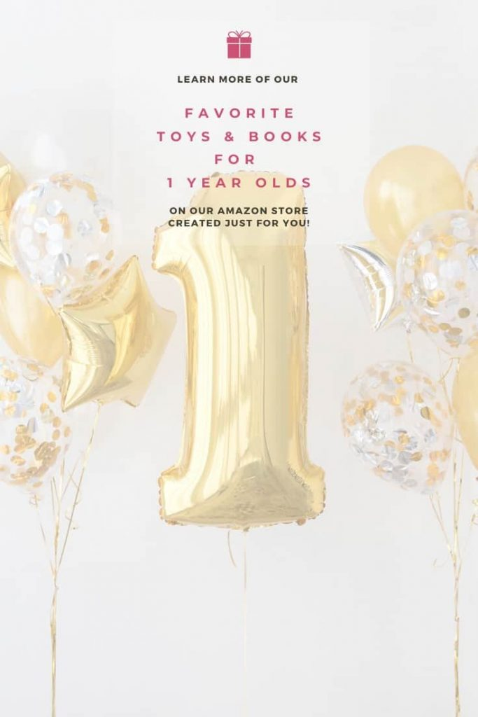 photo-of-birthday-gold-balloon-in-shape-of-number-one-with-text-above-it-saying-find-more-of-our-favorite-toys-and-books-for-one-year-olds-on-our-amazon-store