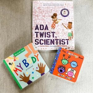 flatlay-of-3-feminist-books-for-boys-ada-twist-scientist-my-body-and-the-feelings-book