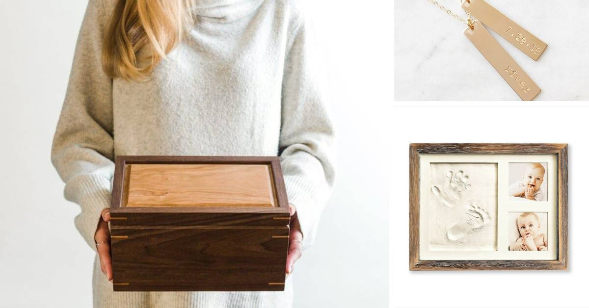 gifts-for-new-mom-from-husband-header-image-keepsake-box-photo-frame-necklace