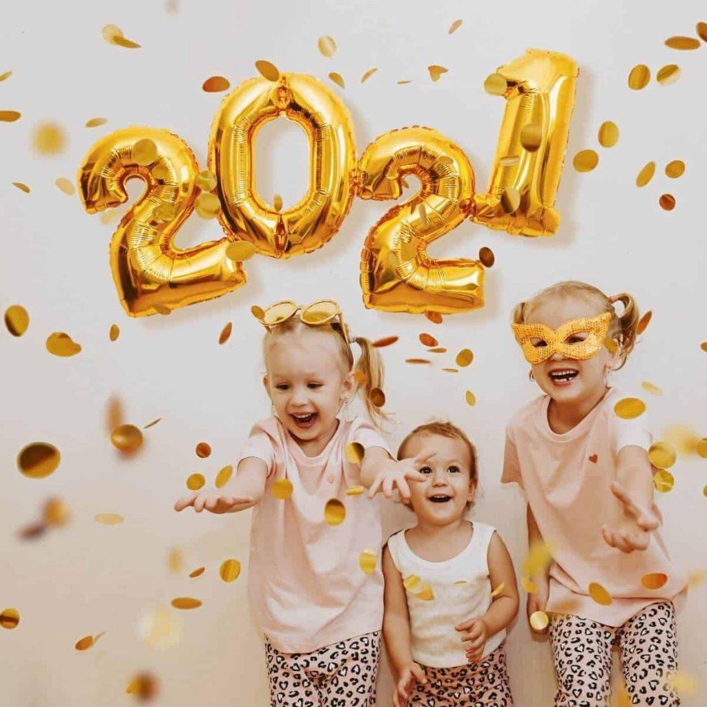 Kids celebrating family new years