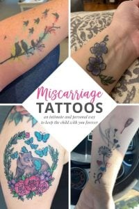 pinterest pin for miscarriage tattoos