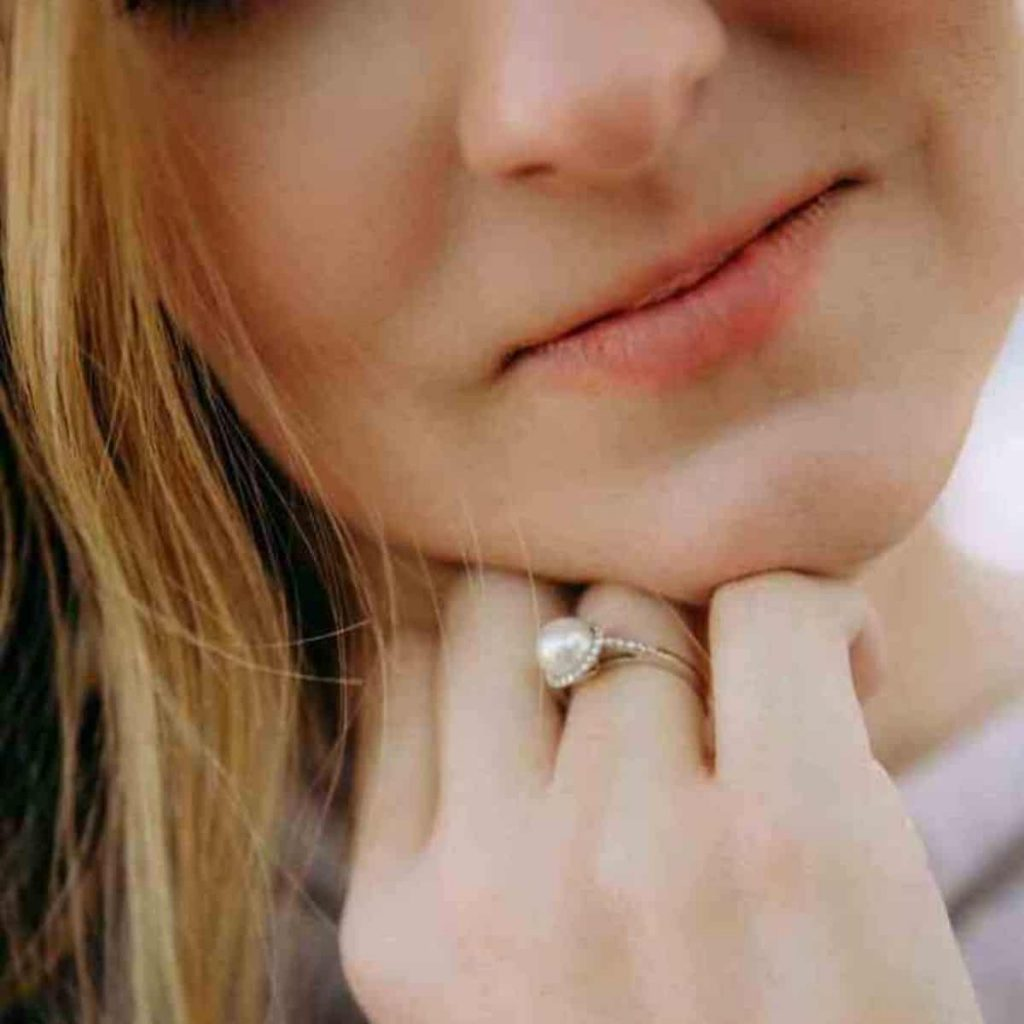 a pearl ring that represents a pregnancy loss and make a great miscarriage gift