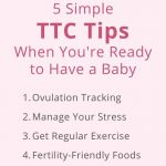text graphic that offers 5 simple ttc tips for trying to conceive