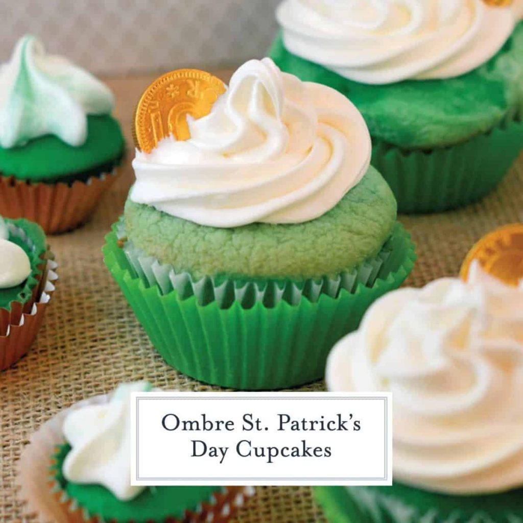 green cupcakes for St. Patrick's Day