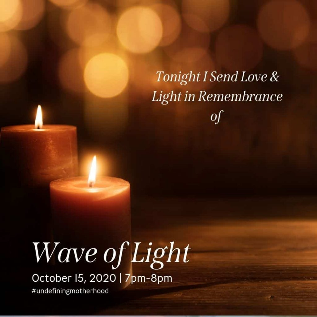 a photo of a candle where you can add your own text to say the name of the child you're honoring in the wave of light 2020