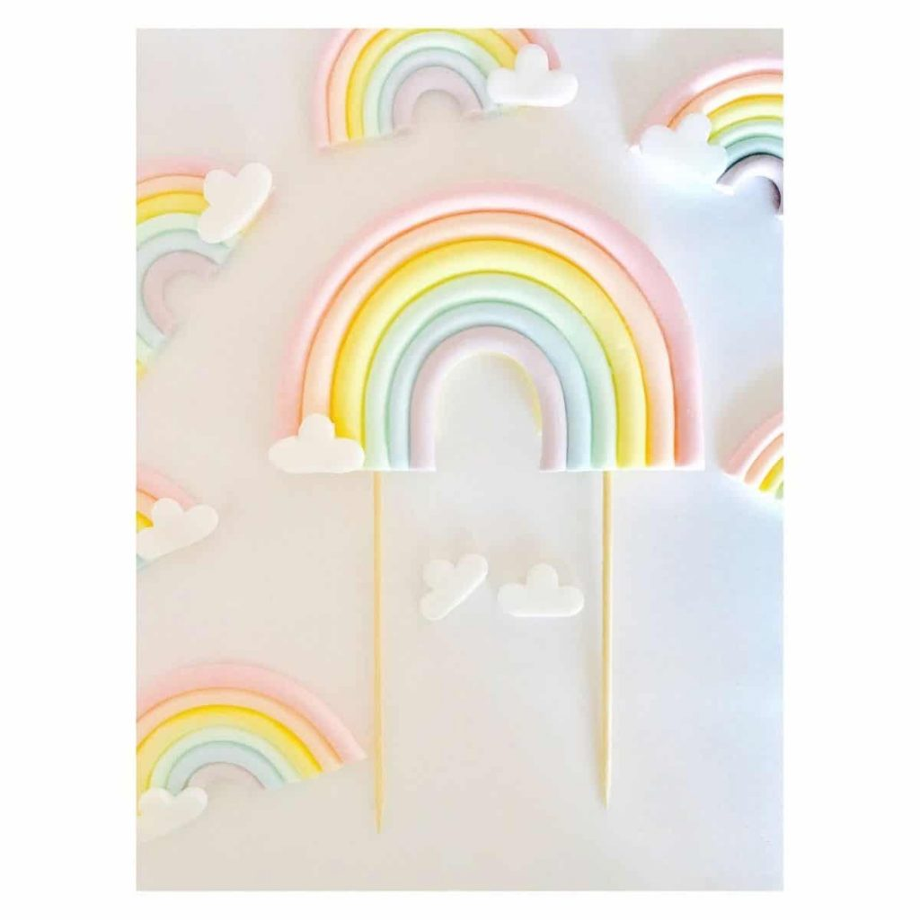sweet rainbow cake topper