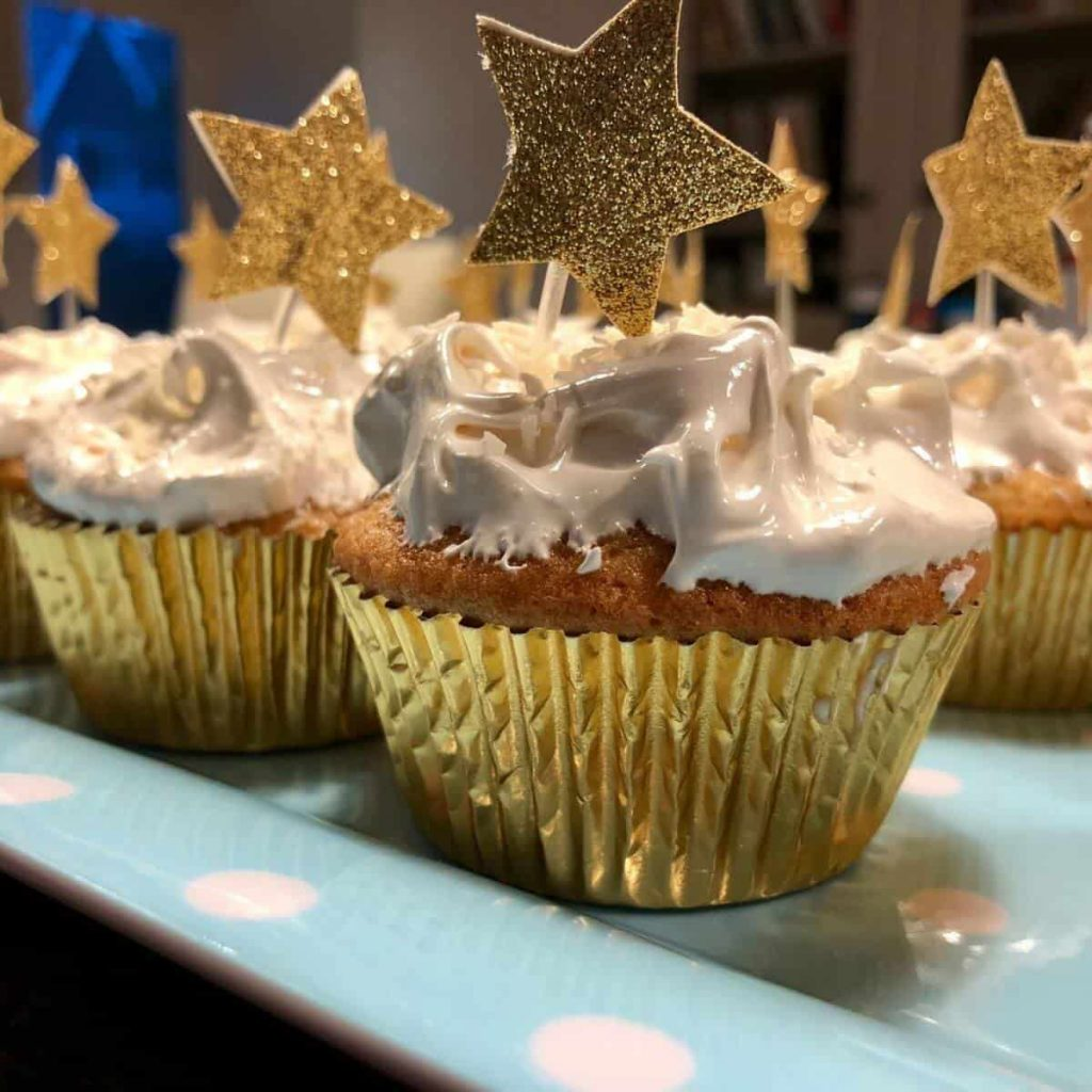 NYE Cupcakes with Stars