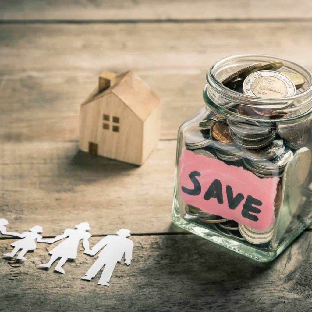 Saving money family