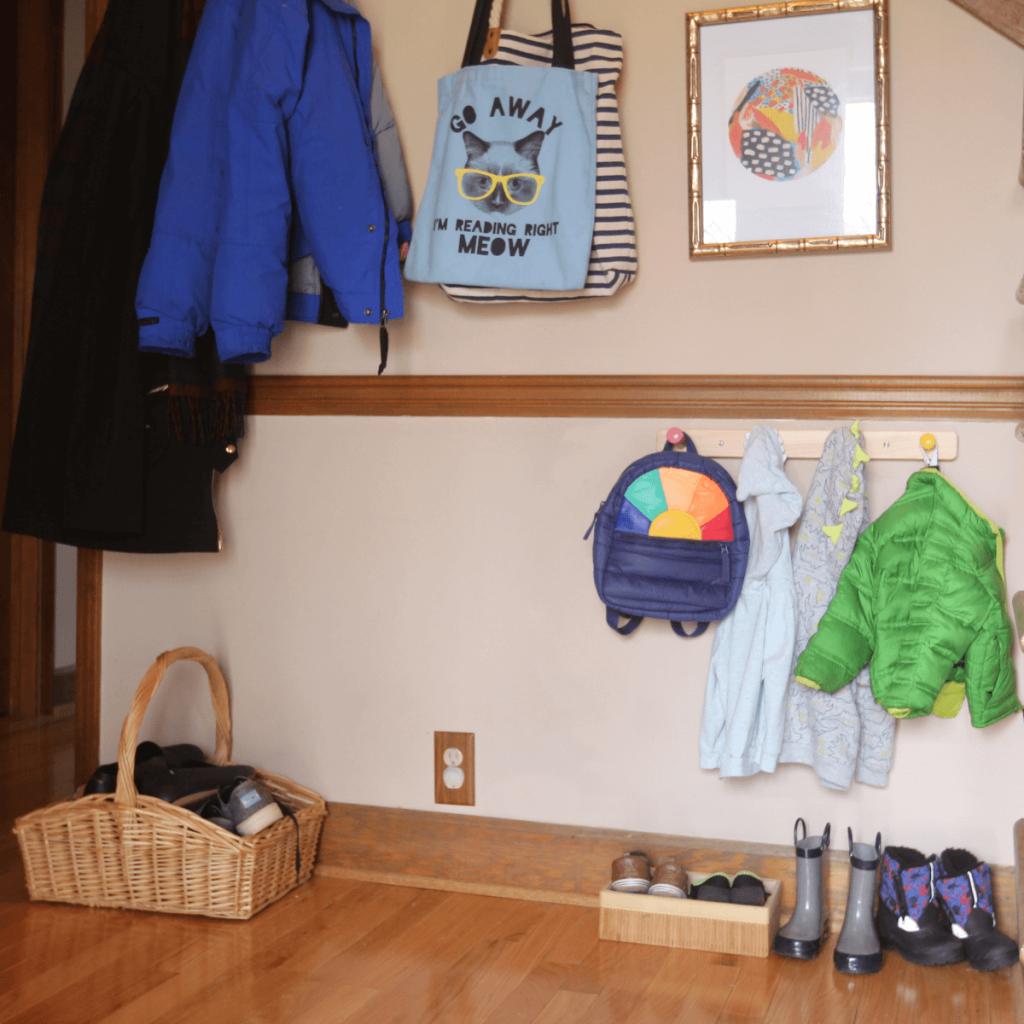 Montessori coat rack