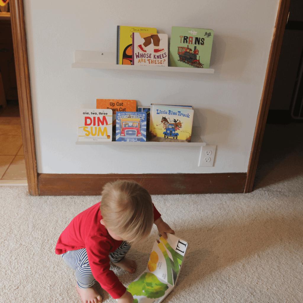 Montessori for infants book shelf