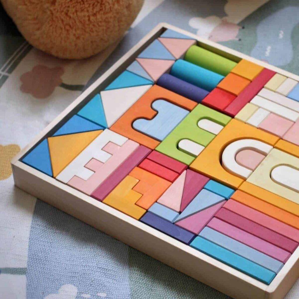 wooden blocks sets montessori toys