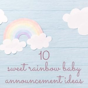 rainbow baby announcement header