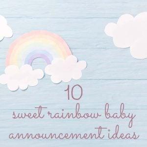 rainbow baby announcement header