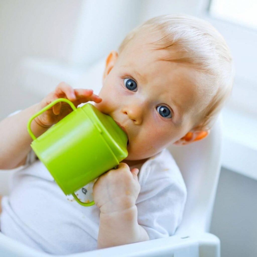Bottle weaning sippy cup little boy