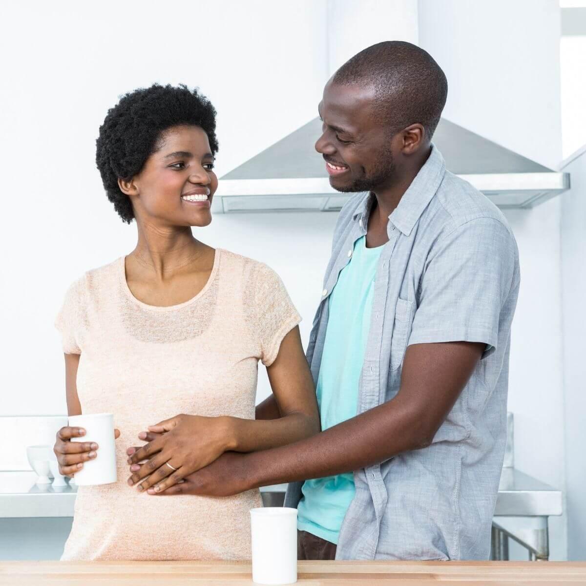 7 Weeks Pregnant BIPOC couple